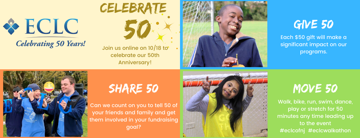 ECLC Foundation Virtual Walkathon celebrating our 50th Anniversary
